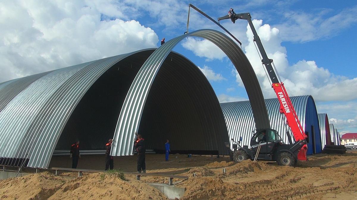 Строительство бескаркасных ангаров с автоматической вентиляцией и утепленнием