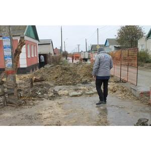 Активисты ОНФ проверили качество благоустройства после ремонтных разрытий асфальта в Волгограде