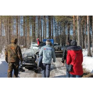 Активисты ОНФ провели рейды по выявлению «черных лесорубов» в Нижнетавдинском районе