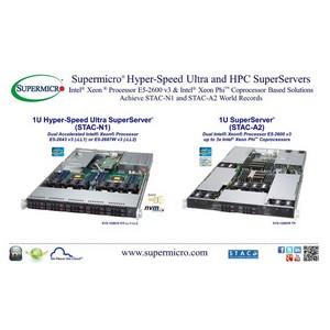 Supermicro® на саммите STAC объявила о достижении мировых рекордов