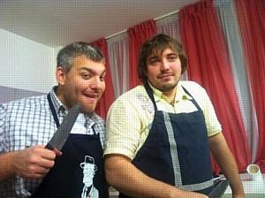 Кулинарное шоу в выставочном  зале Фабрики кухонь «ZETTA»