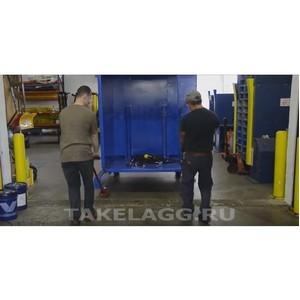 Безопасное использование поворотных катков при выполнении такелажных работ.