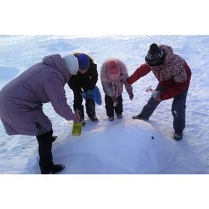 Активисты ОНФ завершили строительство ледового городка в Заречном микрорайоне Тюмени