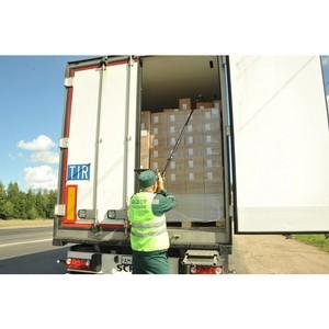 Контроль на дорогах Смоленщины за ввозом санкционных товаров продолжается