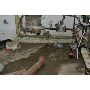 ОНФ взял на контроль работы по устранению причин затопления подвала дома на Средней Первомайской