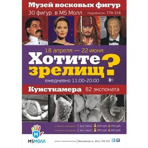 «М5 Молл»: рязанцы смогут  посетить две необычные   выставки из Санкт-Петербурга  до 22 июня.