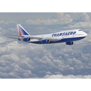 Исполнилось 10 лет с начала эксплуатации авиакомпанией «Трансаэро» воздушных судов Boeing 747