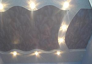 Фактурный натяжной потолок - красота и эстетика