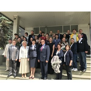 ѕерва¤ группа эковолонтеров завершила обучение по программе ќЌ'