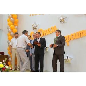 Руководители города и области поздравили работников «Липецкцемента» с Днем строителя