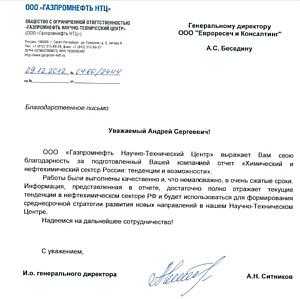 Химический и нефтехимический сектор России. Тенденции и возможности