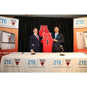 ZTE стал Официальным смартфоном Chicago Bulls