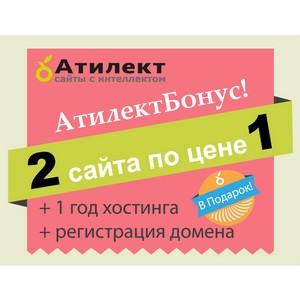 2 сайта по цене 1 и другие подарки от веб-студии Атилект!