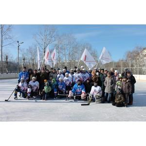 Активисты Народного фронта провели в Благовещенске хоккейный матч среди воспитанников ДЮСШ