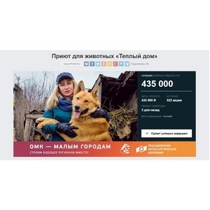 Социальный проект из Чусового собрал 435000 руб. на краудфандинговой платформе «Планета.ру»