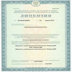 О работе Управления в сфере лицензирования фармацевтической деятельности.