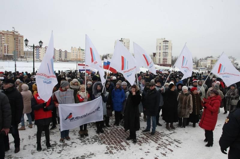 Команда «Молодежка ОНФ» в Мордовии приняла участие в митинге-концерте «Россия в моем сердце!»