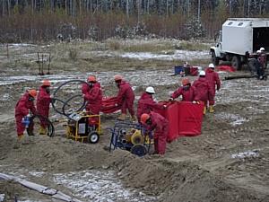 На Нижне-Шапшинском месторождении отработаны действия по ликвидации последствий ЧС