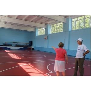 Активисты ОНФ проверили состояние школьных спортивных площадок в селах Костромской области