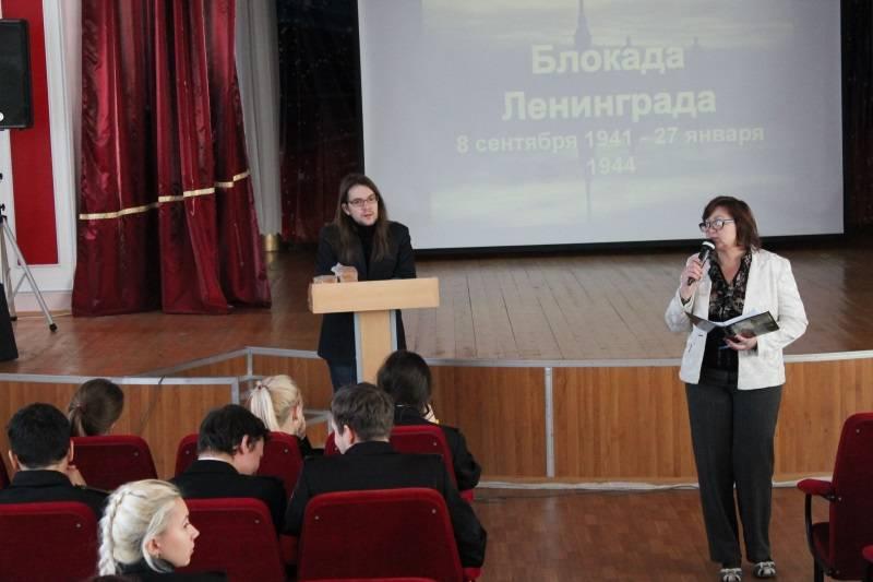 Ко Дню снятия блокады Ленинграда активисты ОНФ в Мордовии провели для кадетов урок мужества
