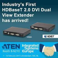 ATEN запускает первый в отрасли HDBaseT 2.0 DVI Dual View KVM Extender CE624