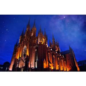 Ѕольшой ѕасхальный концерт дл¤ органа, оркестра и солистов состоитс¤ в атолическом соборе 16 апрел¤