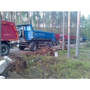 После вмешательства ОНФ в Ленинградской области пресечены нарушения при разработке песчаного карьера
