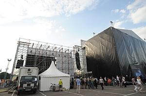 Install Profi построила спортивные площадки и сцену для праздника в Лужниках