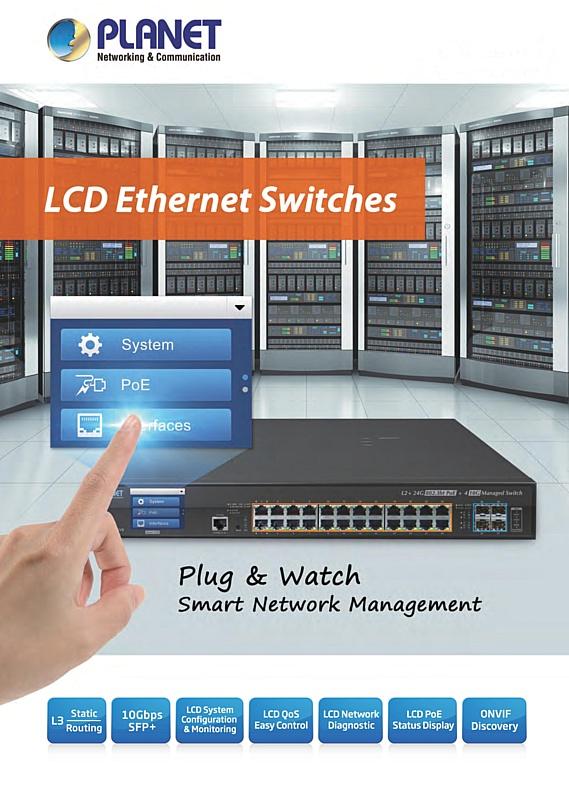 LCD коммутаторы Planet FGSW-2622VHP повышают эффективность и качество систем реального времени