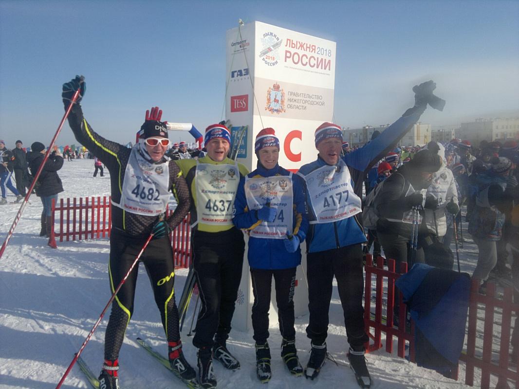Спортсмены РАНХиГС приняли участие во всероссийских соревнованиях «Лыжня России - 2018»