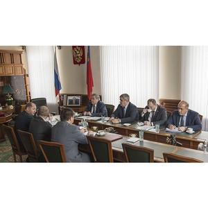Губернатор Кузбасса и глава «МРСК Сибири» обсудили вопросы развития электросетевого комплекса