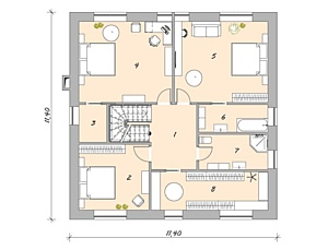 Дом в Английском стиле от компании Peura