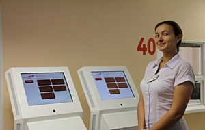Установка системы управления очередью Neuroniq в МФЦ г. Рязани