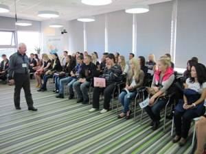 Первая лекция в офисе «Молодежный»