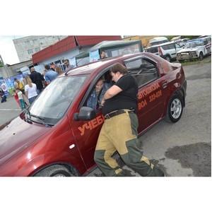 Тюменские автоледи изучили приёмы самообороны