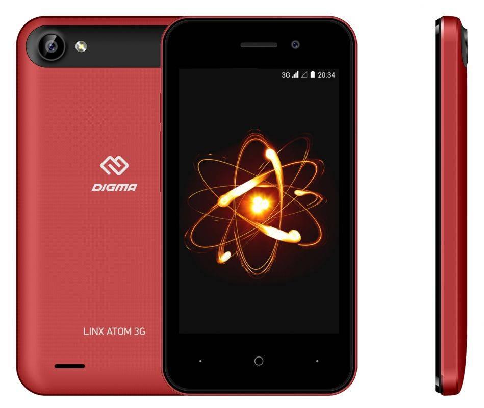 Смартфон Digma Linx Atom 3G: компактность и функциональность