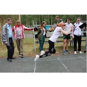 Активисты ОНФ в Удмуртии провели акцию «ГТО со звездой» в детском лагере «Энергетик»