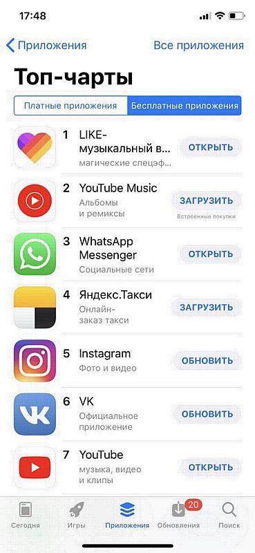 Like стало самым популярным приложением недели в российском App Store