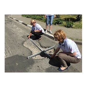 Активисты Народного фронта в Белгородской области проверили качество дорог Старого Оскола