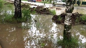 Активисты ОНФ просят власти решить вопрос с организацией водоотведения у дороги в Кирове