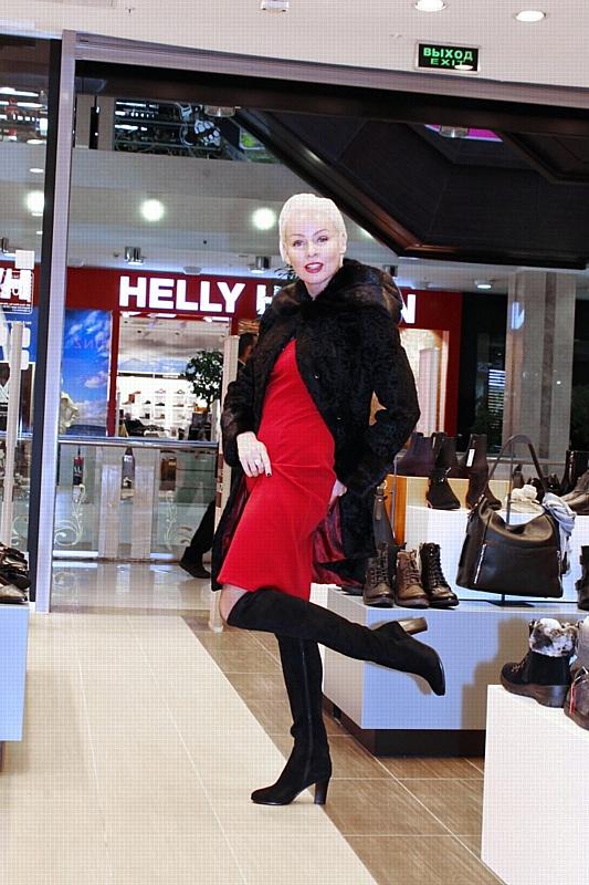 Жанна Эппле к шопингу подходит творчески.