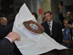 Студенты Рубцовского института (филиала) АлтГУ-участники вскрытия капсулы «Послание потомкам»