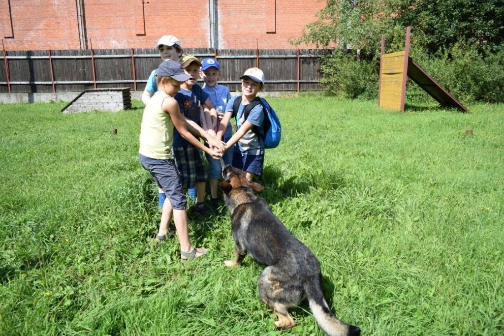Центр кинологической службы УВД Зеленограда встретил юных гостей