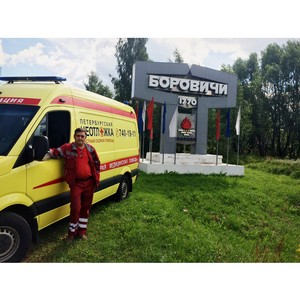 «Петербургская Неотложка» транспортировала пациентов из города Боровичи
