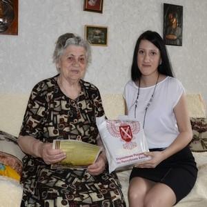 Сотрудники Управления Росреестра по Хакасии поздравили ветеранов с Днем Победы