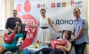 Совместный День донора LG Electronics и Krutoy Media