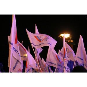 Активисты ОНФ в Петербурге приняли участие в митинге-концерте «Россия. Севастополь. Крым»