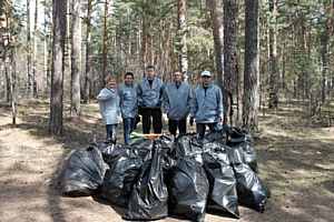 Активисты Народного фронта провели субботник в Челябинском городском бору
