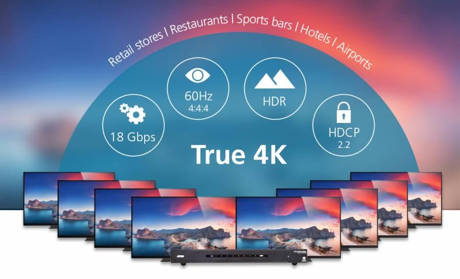 Переход на новый уровень AV распределения с новыми продуктами True 4K Aten