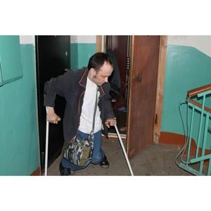 Благодаря активистам ОНФ инвалид из Саранска может воспользоваться лифтом в своем доме